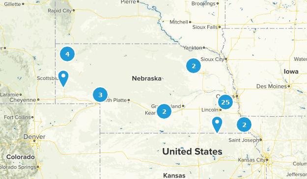 Nebraska Wild Flowers Map