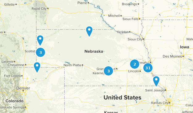 Nebraska Wildlife Map