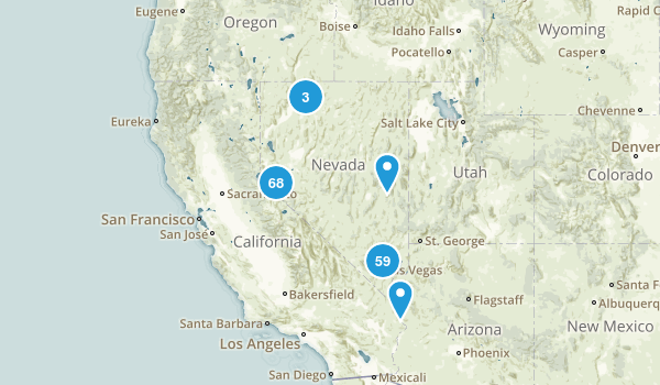 Nevada Mountain Biking Map