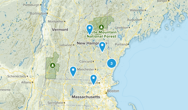 New Hampshire Wheelchair Friendly Map