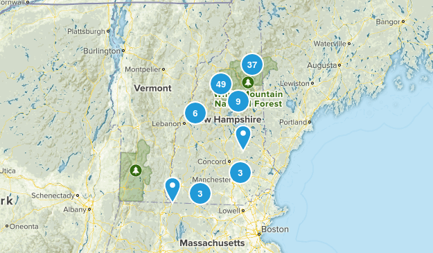 New Hampshire Backpacking Map