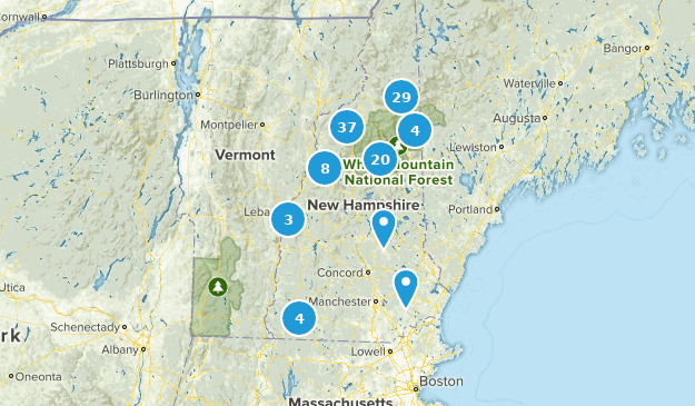 New Hampshire Camping Map