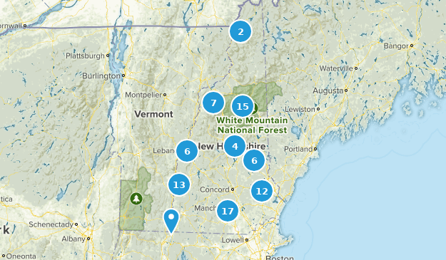 New Hampshire Cross Country Skiing Map