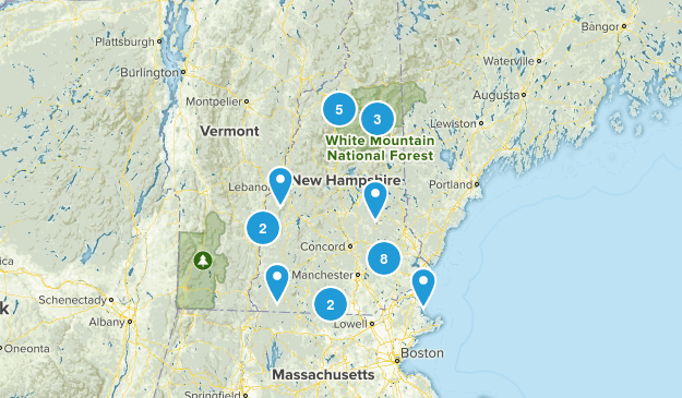 New Hampshire Fishing Map