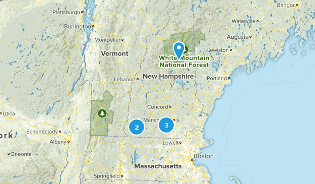 New Hampshire Off Road Driving Map