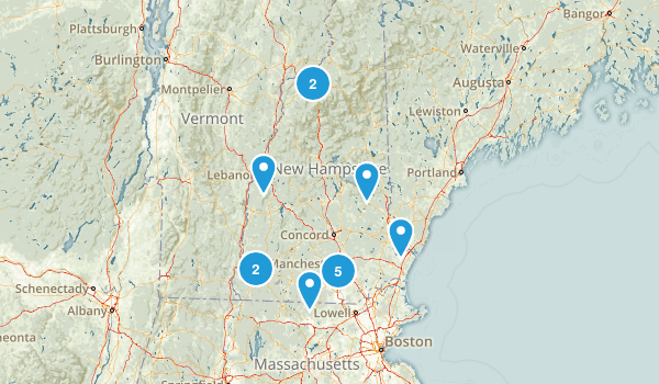 New Hampshire Rails Trails Map