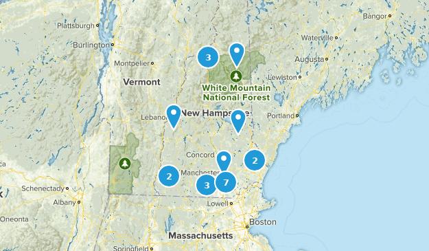 New Hampshire Rails Trails Map