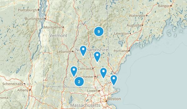 New Hampshire Rock Climbing Map