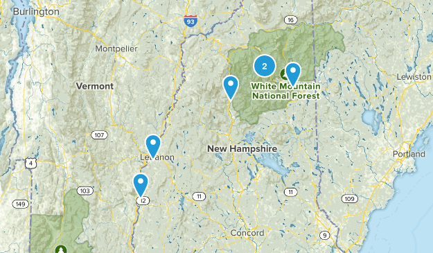 New Hampshire Scenic Driving Map