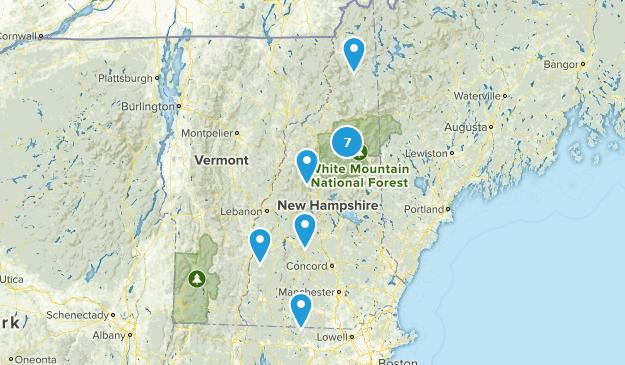 New Hampshire Skiing Map
