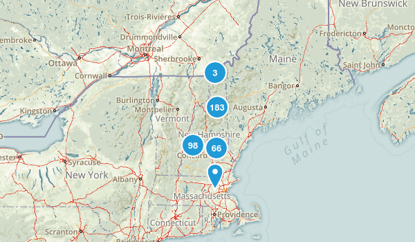 New Hampshire Wild Flowers Map