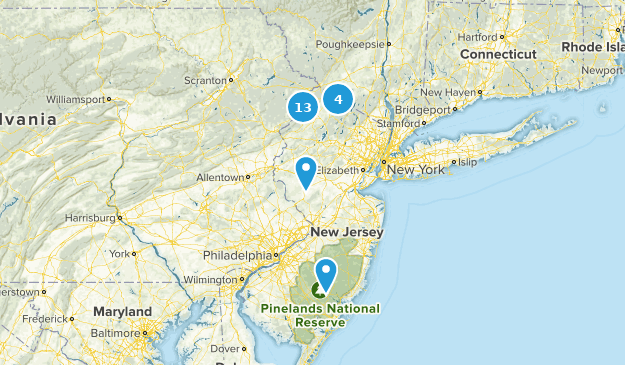 New Jersey Backpacking Map