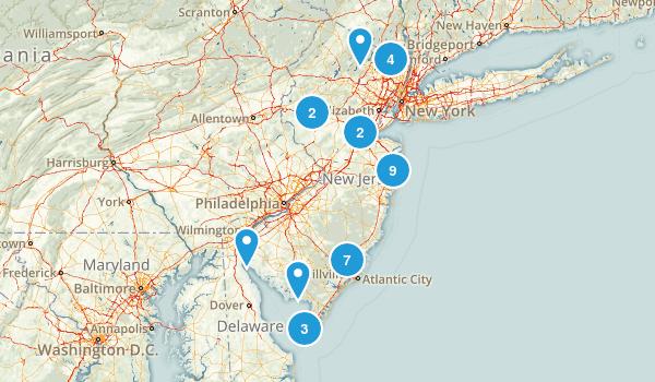 New Jersey Beach Map