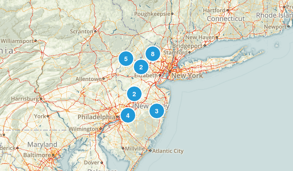 New Jersey Cross Country Skiing Map