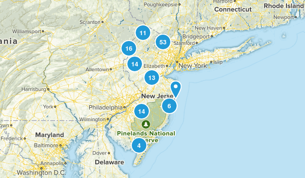 New Jersey Dog Friendly Map