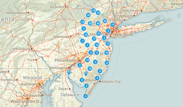 New Jersey Hiking Map