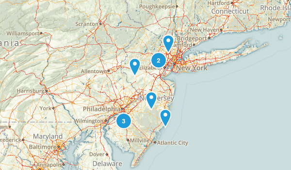 New Jersey Rails Trails Map