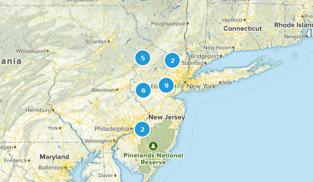 New Jersey Snowshoeing Map