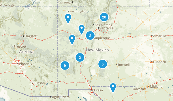 Best Backpacking Trails In New Mexico Photos Reviews - New mexico on us map
