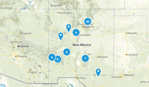 New Mexico Backpacking Map