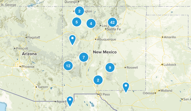 New Mexico Camping Map
