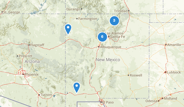 New Mexico Cross Country Skiing Map