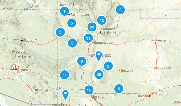 New Mexico Dogs On Leash Map