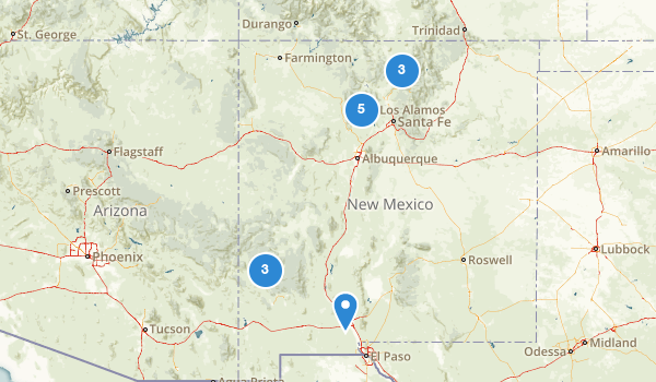 New Mexico Hot Springs Map