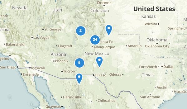 New Mexico Lake Map