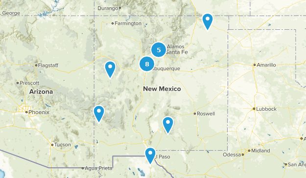 New Mexico Partially Paved Map