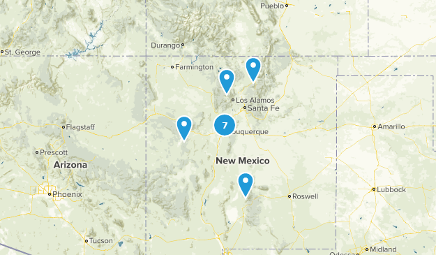 New Mexico Paved Map