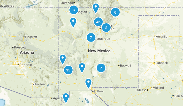 New Mexico River Map