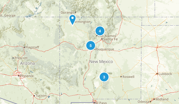 New Mexico Road Biking Map