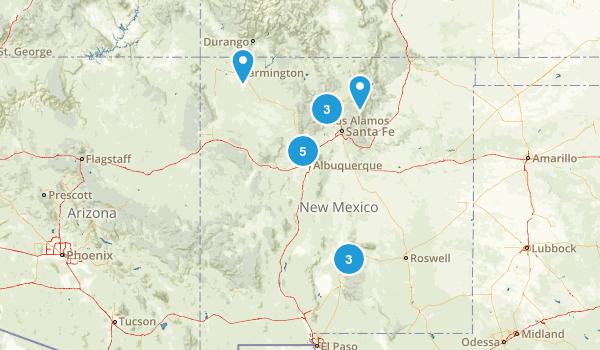 New Mexico Road Biking Map