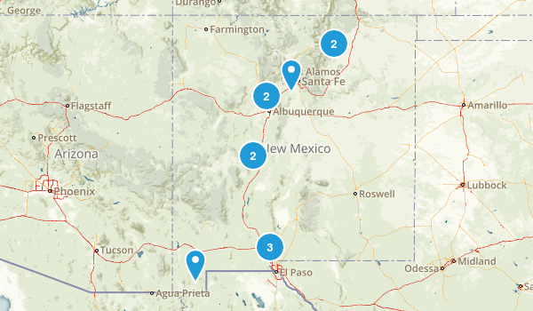 New Mexico Rock Climbing Map