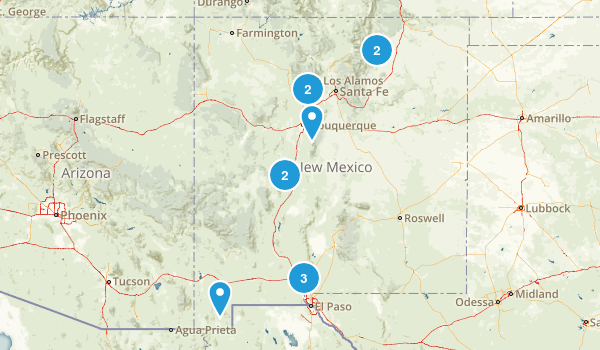New Mexico Rock Climbing Map