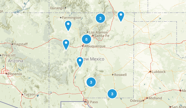 New Mexico Scenic Driving Map