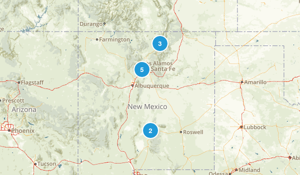 New Mexico Skiing Map