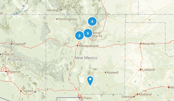 New Mexico Snowshoeing Map