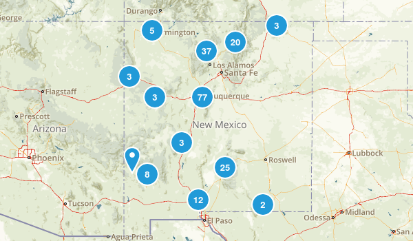 New Mexico Trail Running Map