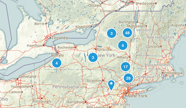 New York Backpacking Map