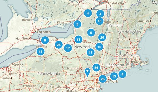 New York Mountain Biking Map