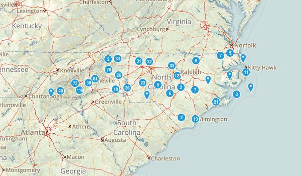 North Carolina Birding Map