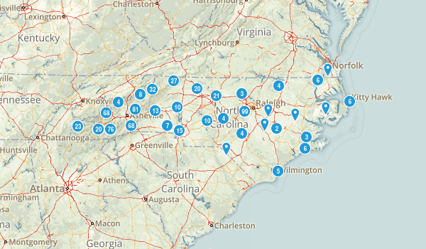 North Carolina Wild Flowers Map