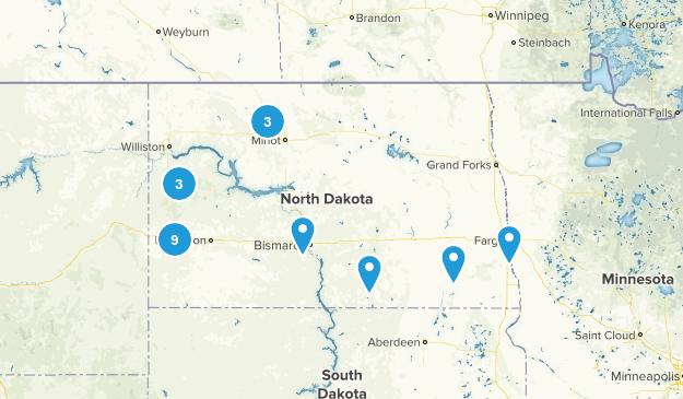 North Dakota Birding Map