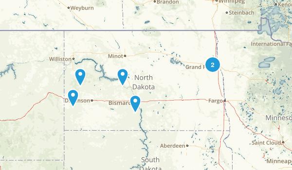 North Dakota Camping Map