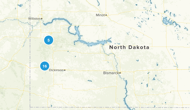 North Dakota No Dogs Map