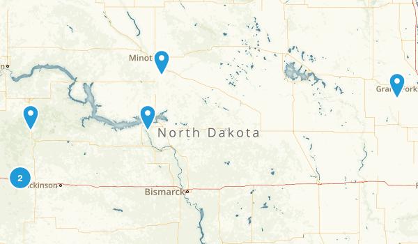 North Dakota Forest Map