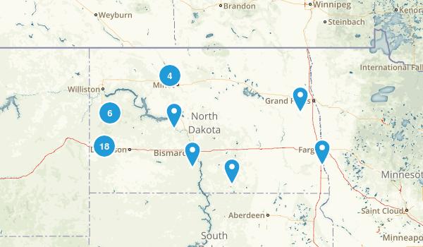North Dakota Hiking Map