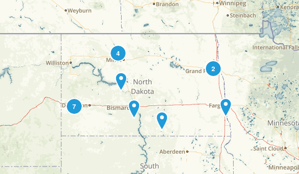 North Dakota Kid Friendly Map